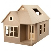 (*) Three Gables Dollhouse (Kit) - Product Image