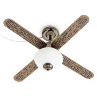 Dollhouse 1 light Ceiling Fan, Pewter - Product Image