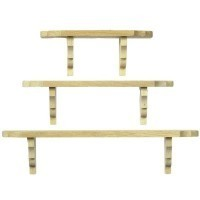(§) Sale 2 pc Unfinished Wall Shelf - Product Image