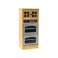 § Damaged $10 Off - Dollhouse Oak Double Oven Cabinet - Product Image