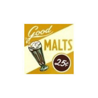 § Sale .60¢ Off - Dollhouse Goods Malt - Sign - Product Image