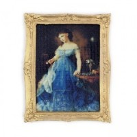 § Sale $2 Off - Framed Picture - Lady in Blue - Product Image