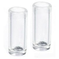 (§) Sale .50¢ Off - 2 pc Tall Glass Water Glass - Product Image